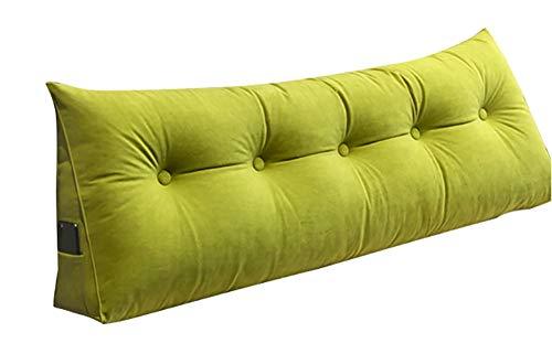 ALGER - Cojín de cabecero de color liso, almohada larga de tamaño grande, cojín de espalda con cristal de Tatami y bailarina de cristal, cojín largo extraíble y lavable, varios tamaños, 180 x 50 cm