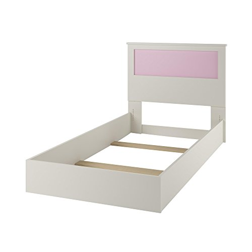 Ameriwood Home Skyler Twin Bed with Reversible Headboard, White