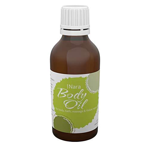 Huile corporelle !Nara Bio cosmétiques naturels 50 ml huile de soin pour les peaux sèches et sensibles à effet calmant - apaise les irritations et démangeaisons cutanées - sans paraben