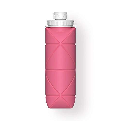 ALEAR Botella De Agua Deportiva Botellas Silicona Plegables,Calidad MéDica Libre De Bpa,Botellas De Agua Plegables Prueba De Fugas Para El Aire Libre Deportes rojo