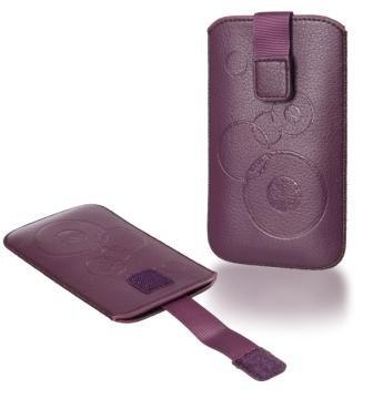 Handytasche Circle für Huawei Ascend Y201 Pro Handy Tasche Schutz Hülle Slim Case Cover Etui violett (ku-sl-vi-ci) - 2