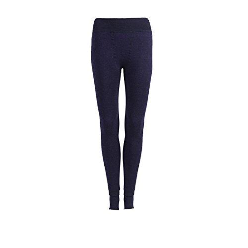Vinciph, leggins caldi, foderati in pile, invernali, termici, a vita alta, elastici, da donna Blue Taglia unica