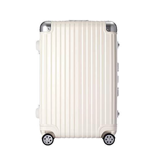 JIA JU JIA JU Gepäck Leichtgewichtiger ausziehbarer Rollaboard-Koffer, Handgepäck Kleine Hardshell/Spinner Weiß (größe : 24-Inch)