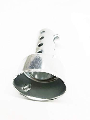 [シェル・フォレスト] バイクマフラー 消音器 取付部直径 42/45/48/60 mm 音量調整 内蓋付き バッフル インナー サイレンサー (S/48/1本)
