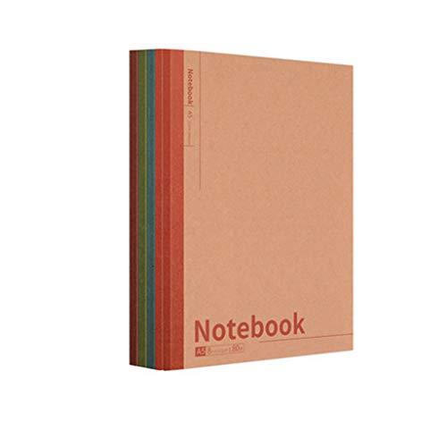 Harilla Paquete de 10 Cuadernos de Tapa Blanda Kraft, 40-100 Páginas, Diario de Papel Rayado, Diario, Viajero - A5 80 Página