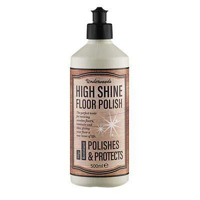Underwoods High Shine Floor Polish, 500ml - for Sealed Wood, Laminate & More!