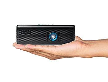 AAXA BP1 Speaker Projector – Bluetooth 5.0 Battery Power Bank Up to 6 Hour Projection or 24 Hours Playtime USB C Mirroring Onboard Media Player HDMI DLP Portable Mini LED Projector  Renewed