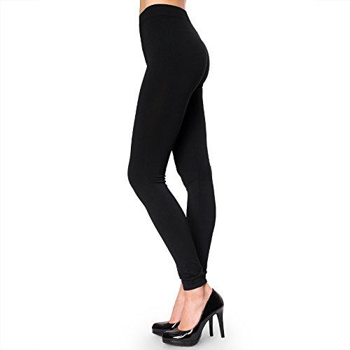 Sofra Leggings - Ladies Polyester Leggings (Black)