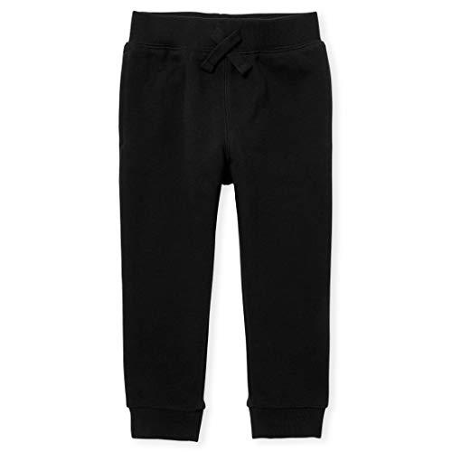 The Children's Place Baby Toddler Boys Active Fleece Jogger Pants, Black Single, 3T
