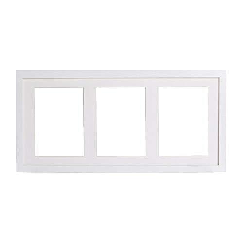 IKEA RIBBA Rahmen für 3 Bilder in weiß; (50x23cm)