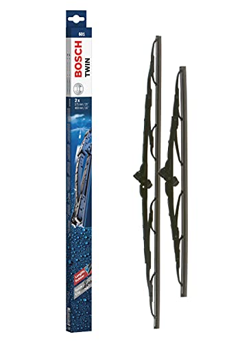 Bosch Tergicristalli Twin 601, Lunghezza: 575mm/400mm, 1 Set per Parabrezza (Anteriore)