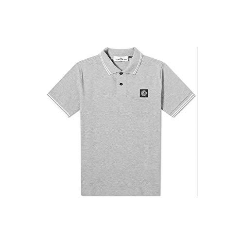 Stone Island Poloshirt, Baumwolle, Grau Gr. XL, grau