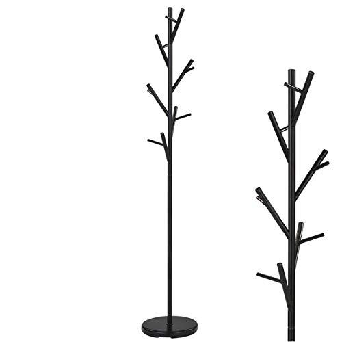 Unbekannt Perchero de pie con forma de árbol, metal, negro,...