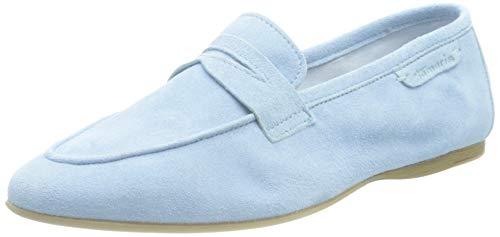 Tamaris Damen 1-1-24217-26 Flacher Slipper, Slipper, soft bleu, 40 EU