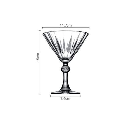 shiqi Copa de Vidrio Diamante Grabado Champagne Copa de Vidrio Copa de Vino Taller de Vino Cóctel de Vino Martini Vidrio (Color : 238ml)
