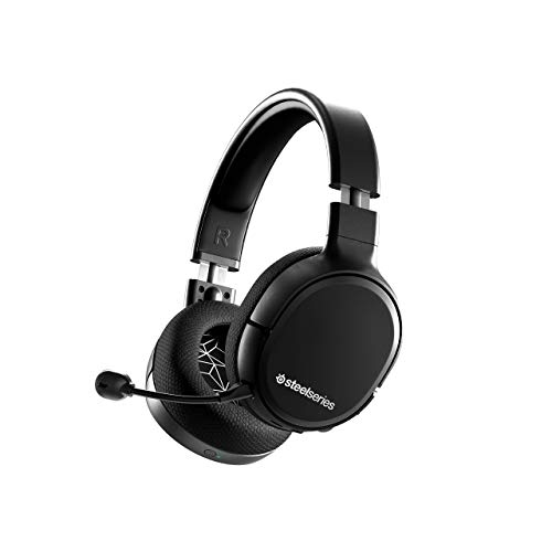 SteelSeries Arctis 1 Wireless Gaming Headset USB-C Detachable Clearcast Microphone Compatible with PC, PS4, Switch and Lite, Android Black (Renewed)