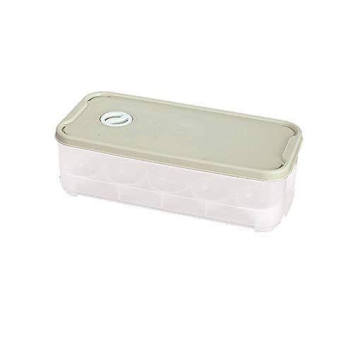 Mdsfe Eier bewaarkoffer houder box koelkast vrieskast eieren bewaardozen container organisatoren eieren opslagdoos 10 roosters voedselcontainers keuken - één maat, groen, USA