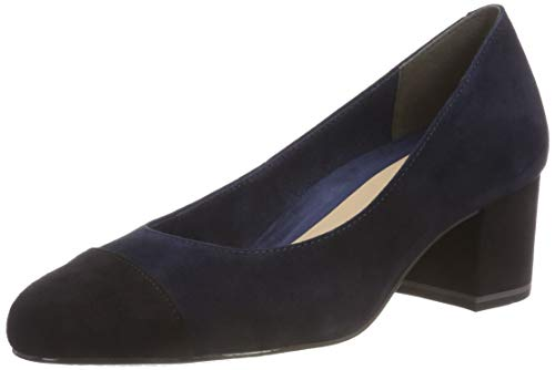 Tamaris Damen 22400-21 Pumps, Grün (Petrol/Black 752), 38 EU