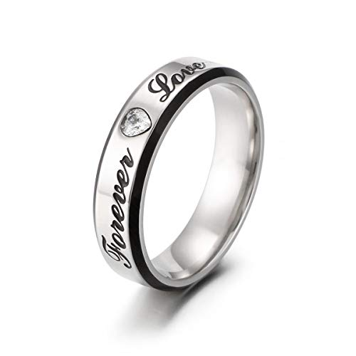 For Sale! Goldrui Men Women Couples Rings Wedding Band Stainless Steel Love Forever