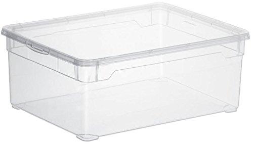 """Rotho Aufbewahrungsboxen """"Clear Box"""", APPMYBOX,mit QR-Code,Box von 5-22 Liter mit Deckel (5x10Liter)"""