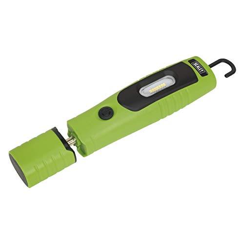 Sealey LED3602G Inspektionslampe, wiederaufladbar, 360 Grad, 7 SMD, 3 W, LED, Grün