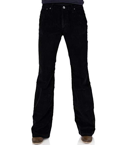 Bootcut spodnie sztruksowe damskie czarne Slim Fit