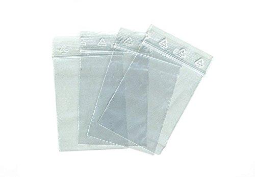 Sachets pour bijoux ou pochette plastique zip - Format 40 x 60 mm / Lot de 500