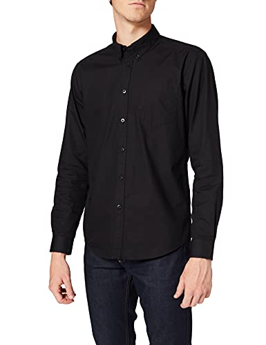 Merc of London Albin, Shirt Chemise habillée, Noir (Black), Medium (Taille Fabricant: M) Homme