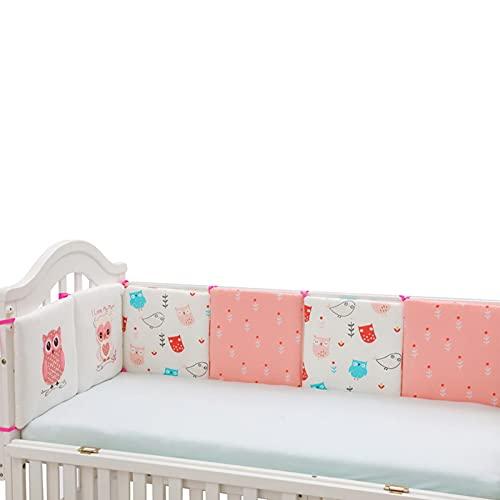 YESS Baby Cuna Parachoques Patrón De Búho Cubierta De Riel De Cuna De Bebé Cojín Interior Cuna De Envoltura Segura Protector De La Protección De La Cama Liner AntiParachoques Polite