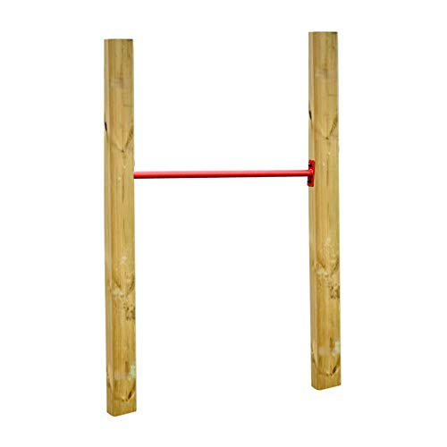 Loggyland Reckanlage, Turnreck, Reck, Metallreck, Kinderreckanlage (Kreuzpfosten-125cm, rot)