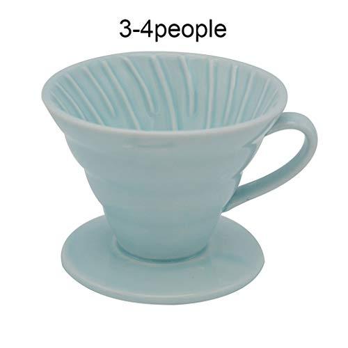 COKFEB Koffiefilter Japan Ceramic Coffee Dripper Motor Style Koffiedruppels Filter Cup Permanent gieten over koffiezetapparaat met aparte standaard