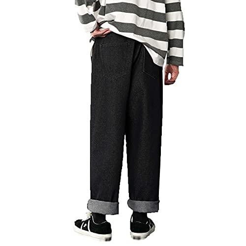 Pantalones Vaqueros Rectos de Color sólido para Hombre Pantalones Casuales de Talla Grande Sencillos para Hombre