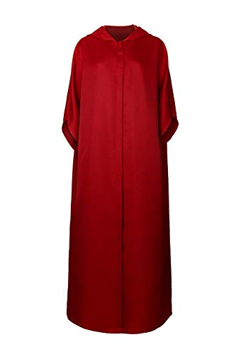 PartyEver Handmaid Offred Cosplay Costume Women Red Cape Dress Cloak Halloween Party Outfit (Large, Cape)