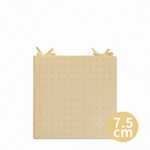 Coussin de bureau de couleur unie coussin étudiant étudiant ordinateur coussin canapé coussin fenêtre de tatami ménage tapis de bureau (Couleur : Beige, taille : 45x45CM)
