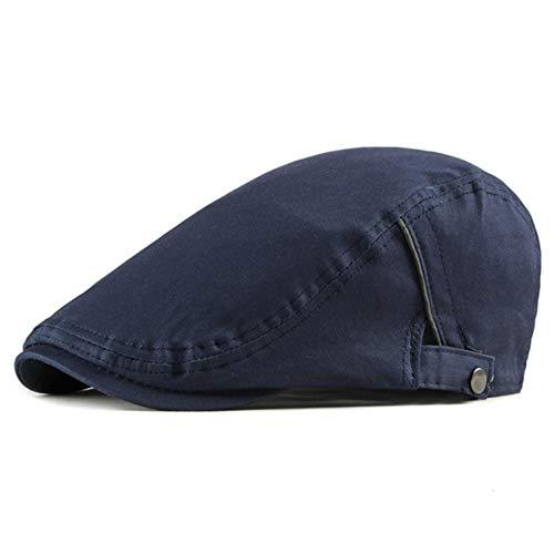 Sombrero de boina de hombre casual sólido para las mujeres viseras de algodón espiga plana gorra artista pico gorra negra gris casquillo
