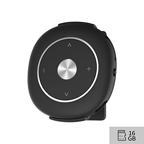 MP3 Player mit Clip FM Radio Kopfhörern, Sport HiFi Verlustfrei Musik Player Speichererweiterbar bis zu 128 GB