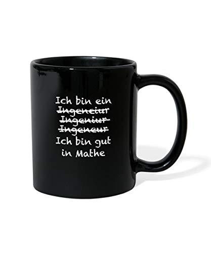 Ingenieur Gut In Mathe Witziger Spruch Tasse einfarbig, Schwarz