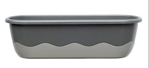Blumenkasten Bewässerungskasten 'Mareta' 60 u. 80cm mit Selbstbewässerung, Farbe:Dunkel + hell-Anthrazit, Größe/Durchmesser:80 cm