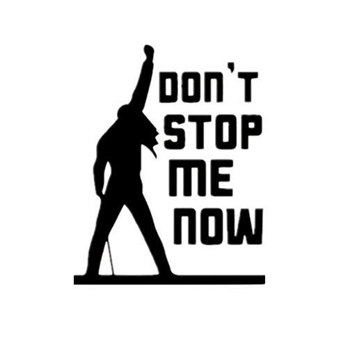 stickerzb Wandtattoo, Aufkleber Freddie Mercury Queen Band Wandtattoo, Dekor Für Wohnzimmer Schlafzimmer Wandapplikation Wandbild Wand-Decoration 58x72cm