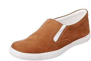 حذاء شمواه صناعي سهل الارتداء بأستك جانبي وطرف دائري للنساء من ساليرنو