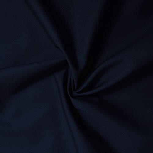 designers-factory Coupon Tissu Popeline 100% Coton - 12 Coloris Disponibles - Tissu Coton - Tissu Popeline de Coton (3m x 1m46, Marine)