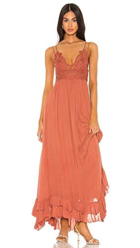 Free People Adella Bralette Maxi Dress Copper