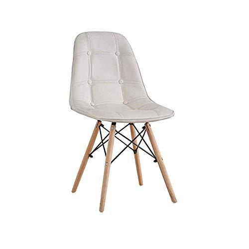 ZCXBHD Eettafel Plastic Stoel, Retro Houten Benen Eetstoel, voor Keuken, Restaurants, Cafés, Bars (optionele Kleur)