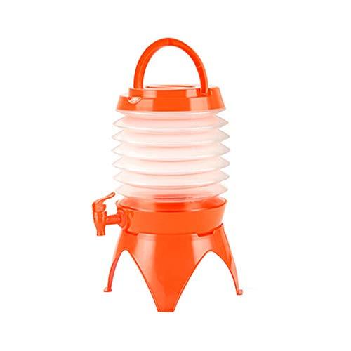 Onewell 5,5 l Faltbarer Getränke-Spender, tragbar, Leichter Kunststoff, Wasserbehälter für Outdoor, Picknick, Camping, Orange