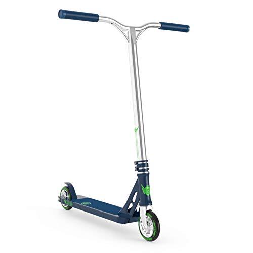 Longway Pro Stunt Scooter - Sector - Patinete para niños y adultos, color azul cromado