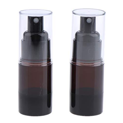 Homyl 2pcs 15ml Bouteilles Aluminium Atomiseur Spray Parfum Récipient Liquide de Coiffure et Maquillage Vaporisateur à Brouillard D'eau Portable