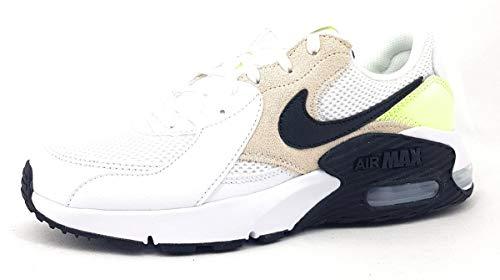 Nike Air Max Excee, Scarpe da Passeggio Donna, White Black Barely Volt Lt Ore, 44 EU
