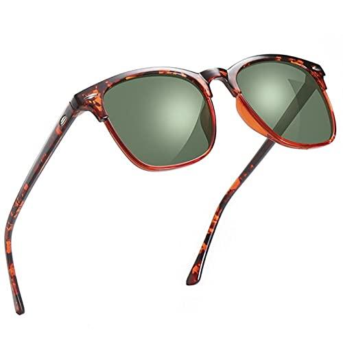 UKKD Gafas De Sol Mujer Gafas De Sol Hombres Polarizados Vintage Espejo Gafas De Sol Para Mujeres Masculinas