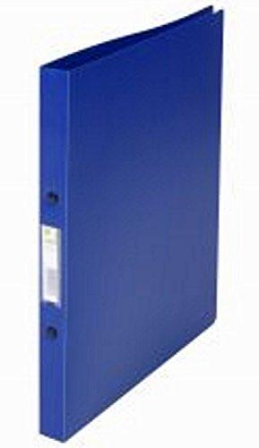 Q-Connect KF02910 Ringbuch - A4, 2-Ring, Dürchmesser 16 mm, blau/klar