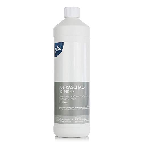 NEU: Ultraschallreiniger Konzentrat für die Brillenreinigung inkl. Mikrofasertuch – Reinigungskonzentrat mit Flaschenausgießer für jedes Ultraschallreinigungsgerät Modell: Grey & Tuch (1000ml)